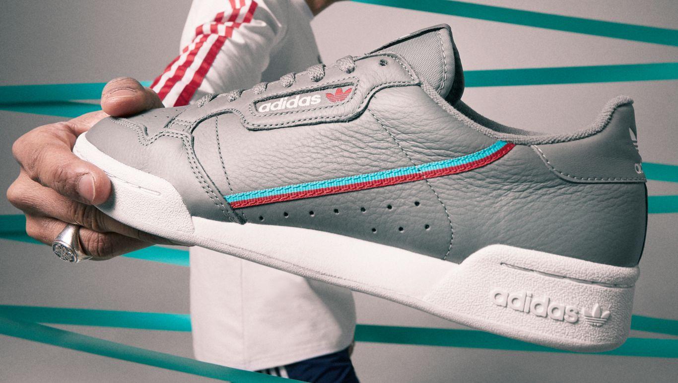 more photos bc72e 470e6 adidas Continental 80 en gris